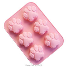Big Size Cat Paw Print Bakeware Silicone Mould Chocolate Bear Paw Mold Cookie Candy Soap Wax Mold DIY Kit Cake Decorating Tools