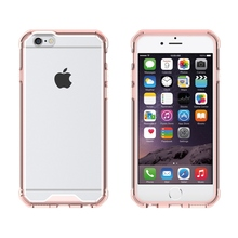 Crystal Clear Back Cover Hybrid Air Cushion Tech Case Mask Shockproof Bag For Apple iPhone 6 6S 4.7 / 6 Plus / 6S Plus 5.5 Inch(China)