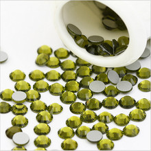 KOKOBLING ss3 -ss30 Flat Back Best Crystal Olive ( 3d Nail Art decorations ) Non Hot Fix Glue on Rhinestones for nails diy