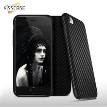 KISSCASE Cool Carbon Fiber Case For iPhone 7 7Plus Synthetic Fiber Hybrid Protective Cover Phone Cases For iPhone 6 6sPlus 5s SE