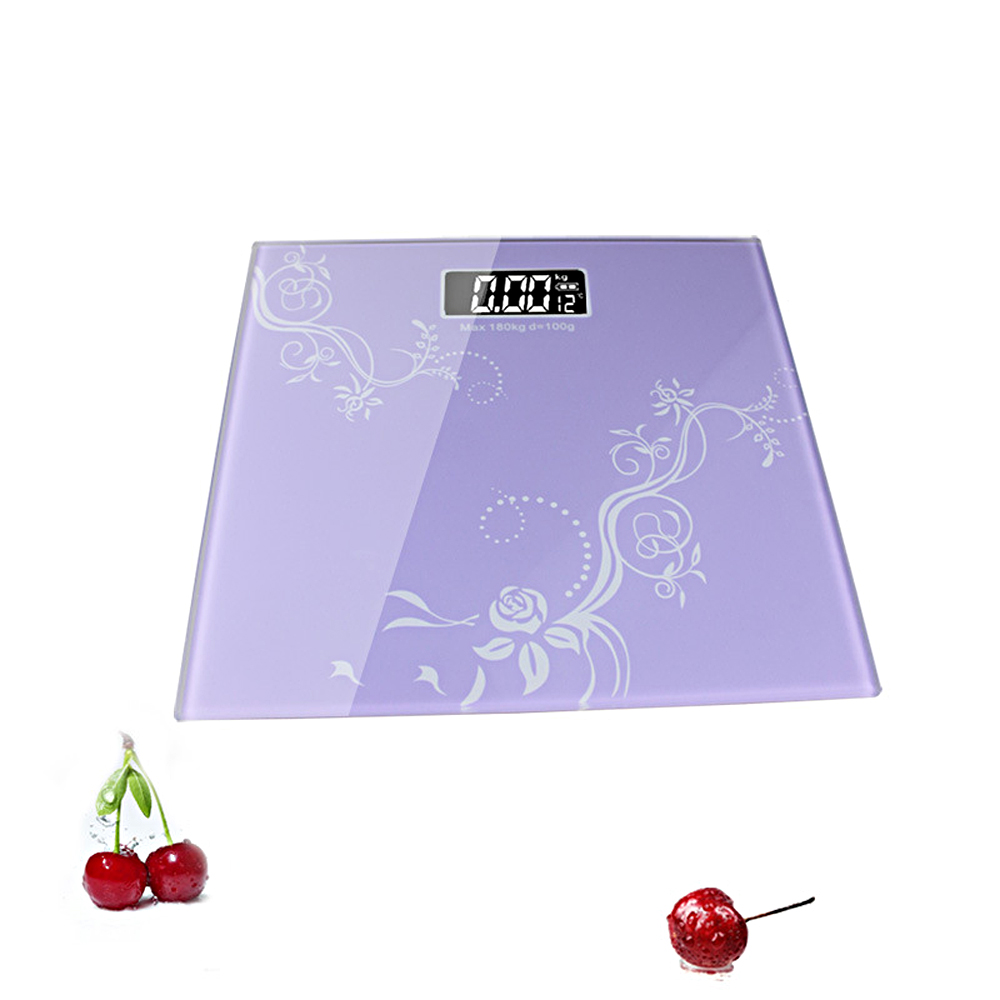 2017 NEW 100% Original 180kg 4 Colors Temperature Household Upscale Digital Body Weighing Scale LCD