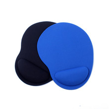 Cute Shape Wrist Support Cloth + Mouse Pad Mice Mat Mini Size Blue Black Color