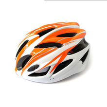 2014 NEW Bicycle helmet Ultralight Orange Adult Men Safety 18 Holes Helmet with Visor