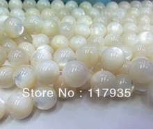 Best Quality 11sizes White dream Natural seawater pearl shell mother of pearl oyster loose stone beads DIY for jewelry making