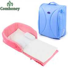 Portable Baby Crib Nursery Outdoor Travel Folding Baby Bed Bag Infant Toddler Cradle Multifunction Storage Bag For Baby Care