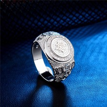 SHUANGR 2017 Silver Color Men Jewelry Rings Party Jewelry Cubic Zirconia man Rings