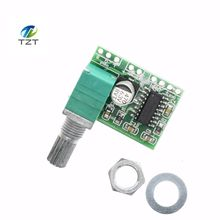1pcs PAM8403 Mini 5V Power Amplifier Board Support USB Power Supply 3W+3W (Switch potentiometer) 2-Channels Audio modul(China)