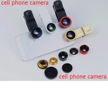 Fish eye lens 3 in 1 universal mobile phone camera wide+macro+fisheye lenses for iphone samsung universal cell phone lenovo LG