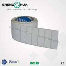 Low cost ISO18000-6C adhesive 860~960mhz paper PET uhf rfid tag for personal management 2000pcs