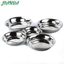JIANDA High Quality 304 Stainless Steel Soup Plate Tableware Durable Dish Bowls Kitchen Accessories bandeja(China)