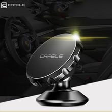 CAFELE Luxury Magnetic Car Phone Holder for iphone7 Samsung S8 Huawei Xiaomi Redmi 360 Degree Rotation Holder Dash Board Stand(China)