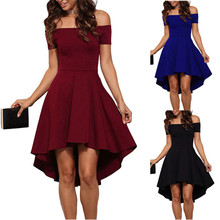 Yismall 2017 Spring Women Elegant Club Wine Red Black dress Bodycon Off Shoulder short sleeve Cocktail Party dresses Vestidos
