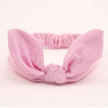 1 pcs Cute Lovely Girls Elacstic Plaid Dots Bowknot Hairband Turban Rabbit Ear Headband Headwear Hair Band Accessories
