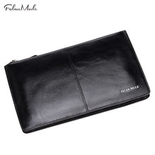 New Arrival Male Clutch Genuine Leather Wallet Men Clutch Bag Clutch Male Wallet Luxury Leather Men Wallet Men Handy Bag(China)