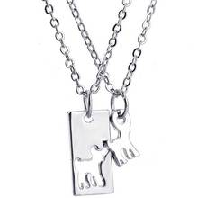 Cute Cutout Deer Mini Pendant Necklace Mother Daughter Necklace Set BFF Jewelry Simple Special Gift Jewelry