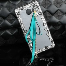 Ribbon Tassel Rhinestone Case for Samsung Galaxy S4 S5 S6 S7 Edge S8 Plus Note 2 3 4 5 7 Note 3 neo Crystal PC Hard Cover Case