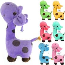 28/38 cm purple pink blue Giraffe Dear Soft Plush Toy Animal Dolls Baby Kid Birthday Party Gift Giraffe plush toys for baby kids