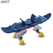 (AOSST)Alloy Stand Professional Type Bearing Wheels Skid Pad Finger Skateboard Bearing Wheel Fingerboard Novelty Toy(China (Mainland))