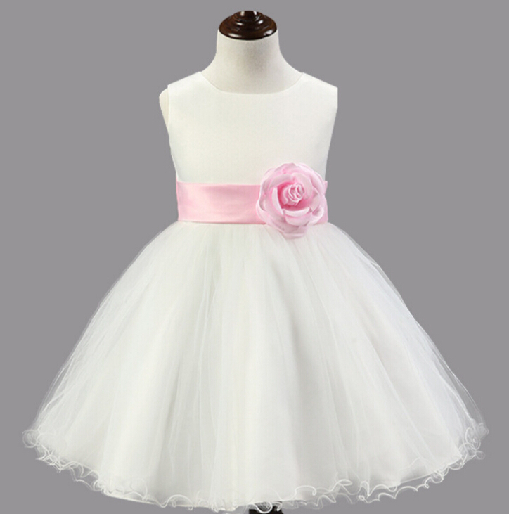 Princess Dress Organza Veil Ball Gown Children Dresses Girls Prom Birthday Party Flower Dresses For Wedding Dress<br><br>Aliexpress