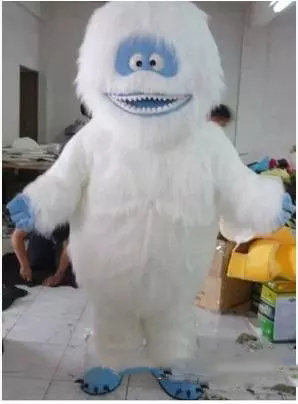 Hot sale White Snow Monster Mascot Costume Adult Abominable Snowman Monster Mascotte Outfit Suit Fancy Dress