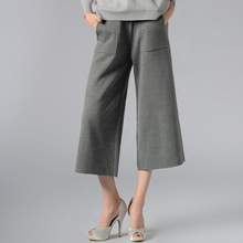 Brand New Autumn-Spring Wide Leg Pants Sexy Ankle-Length Culottes Pants Loose Women Clothing Pants Woman M,L 177-45G