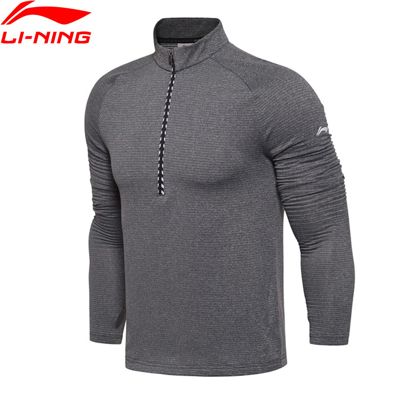 Li-Ning Men Running Series Long Sleeve T-Shirt WARM AT Regular Fit 95% Polyester 5% Spandex LiNing Sport Tops ATLM077 MTL969<br>