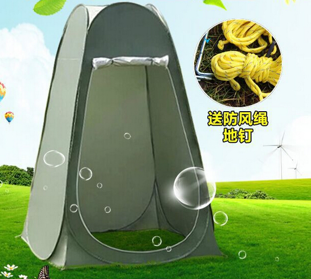 Outdoor Camping Toilet Bath Tent Portable Multipurpose Beach Dressing Tent Quick Automatic Open UV Protection Fishing Tent<br><br>Aliexpress