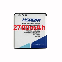 HSABAT 2700mAh BST-38 / BST 38 High Capacity Mobile Phone Battery for Sony Ericsson W580 W580i w760 T650 X10(China)