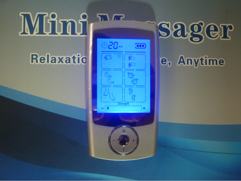 Rechargeable16 Modes TENS Machine MINI Body Massager Digital Massager Electrode Stimulator Acupuncture For Physical Therapy<br>