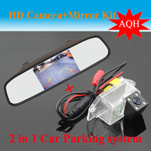 "Promotion 4.3"" car mirror monitor LCD TFT + car rear view parking backup camera for Mitsubishi Lancer /wing God / cheetah soarn"