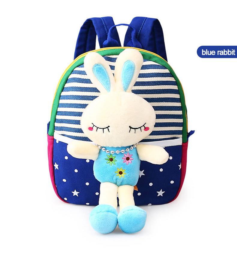 Korean Style Children Toddler Cartoon Stuffed Plush Backpacks baby girls boys cute toys schoolbag backpack (15)