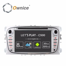 Ownice C500 2Din Android 6.0 4 core dvd-плеер автомобиля для Ford Mondeo S-MAX Connect Focus 2 2008 -2011 с Радио GPS 4 г сети LTE(China)