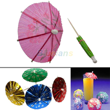 50 pcs Paper Cocktail Parasols Umbrellas drinks picks wedding  Event & Party Supplies Holidays luau sticks 8BSM