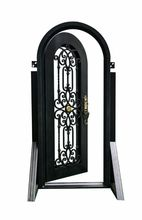Hench custom design luxury wrought iron entry doors DDU shipping to USA home  HC-d2