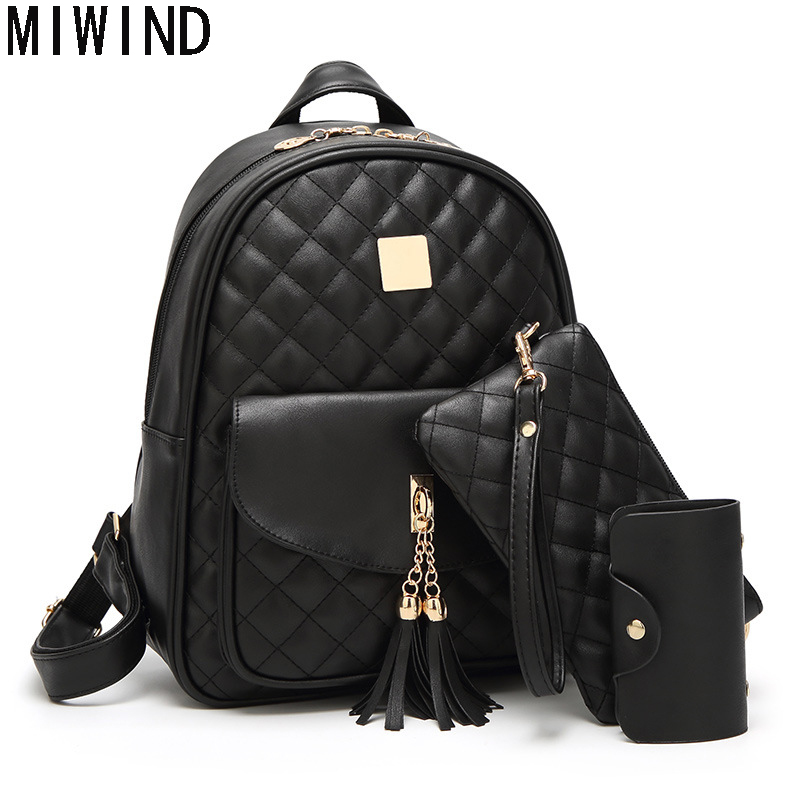 MIWIND Women Backpack  Fashion Causal bags High Quality female shoulder bag famous designer brand backpack T1068<br>