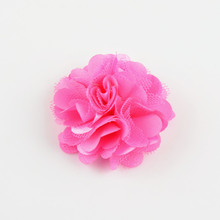 "20colors wholesale fabric flower 2""satin mesh flower DIY hair accessories use for flower headband,wedding embellishment"