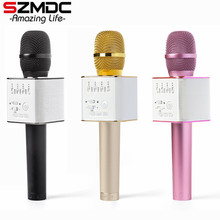 SZMDC Brand Q9 Magic Bluetooth Karaoke Microphone Wireless Professional Player speaker With Carring Case For Iphone Android(China)
