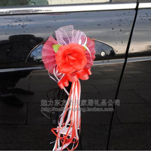 4 Pcs Very Beautiful Adornment Flower Car Door Handles and Rearview Mirror Decorate Collocation(China)