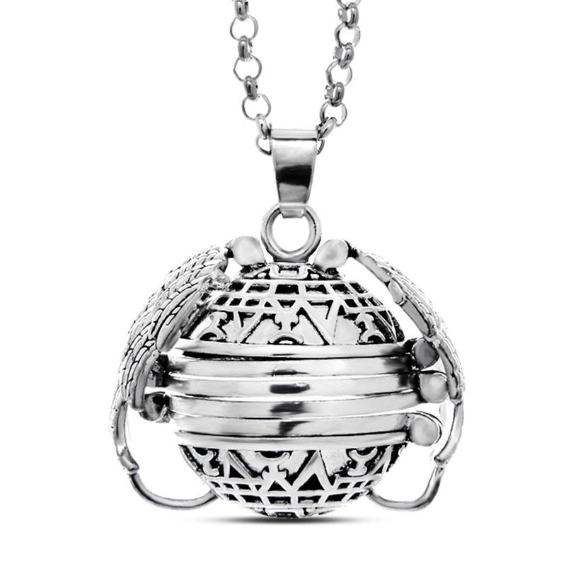 Expanding Multiple Photo Locket Necklace Pendant Angel Wings Gift Jewelry