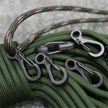 Tactical Survival Outdoor Tools 10PCS/LOT Mini Carabiners Climbing Packs Clasps EDC Keychain Camping Bottle Hooks Paracord Q053