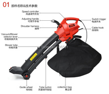 New model electric leaf blower,hand push stone blower garden home use powerful wheel blower vacuum(China)