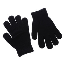 2017 1 Pair Winter Girls Boys Kids Stretchy Knitted Winter Warm Pick Color Magic Gloves(China)