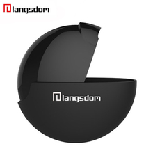 Langsdom Headset Box langsdom UFO Storage Box Multifunctional Frosted surface Carrying Bag Earphone Headphone Accessories(China)