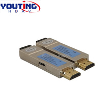 YOUTINGHDAV HDT1R1300M HDMI Optical Extender 300m HD cable transmitter 1080120HZ 3D 4K UHD double LC Fiber extension