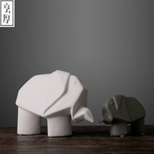 2017 Nordic ornaments creative home accessories wedding decoration Desktop Accessories,Large and small elephant,beautiful gift