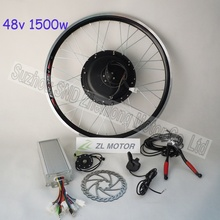 Powerful electric bike diy kit 1500w 48V brushless dc rear hub motor and 1800w controller with bike pedal sensor G-S004(China)