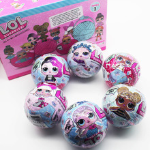 lol series1 9.5cm LOL Surprise Doll Magic Funny Removable Egg Ball Doll Toy Educational Novelty Kids Unpacking Surprise Dolls
