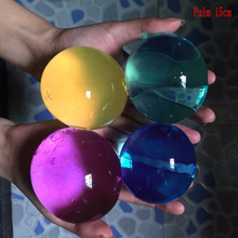 25pcs Pearl Shape 13-15mm Big Crystal Soil Water Beads Mud Grow Magic Jelly Ball Kids Toy Wedding Home Decor Hydrogel Beads(China)