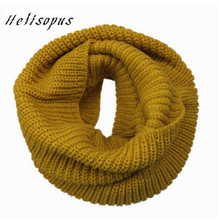 Helisopus Warm Scarves for Women Bandana Knitted Neck Long Shawls Bandana Women Winter Scarf Knitting Wool Collar Neck Warmer(China)