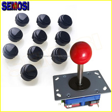Arcade Stick Button DIY Kit with 4/8 Way Arcade Joystick and 10 x 30mm Push Buttons MAME Jamma Games Part